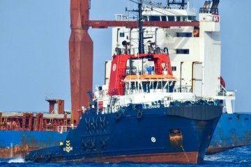 """El remolcador de salvamento """"VB Hispania"""", a su llegada al puerto de Las Palmas"""