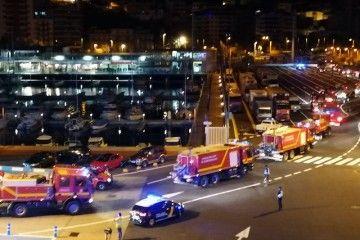 Eefectivos de la UME a su llegada al puerto de Santa Cruz de La Palma