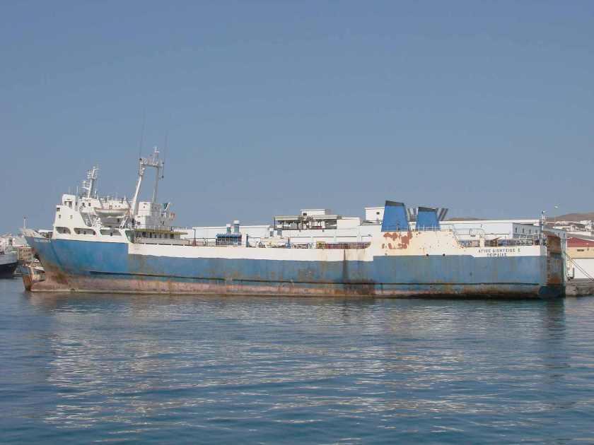 La permanencia del buque en Las Palmas se prolongó por algo más de una década