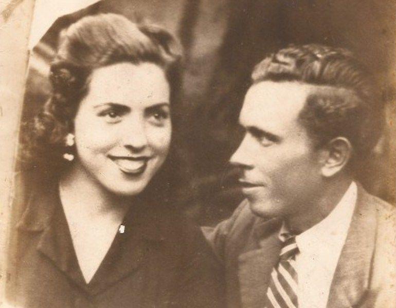 Teresa García y su esposo Antonio Aguilar, recién llegada ella a Venezuela