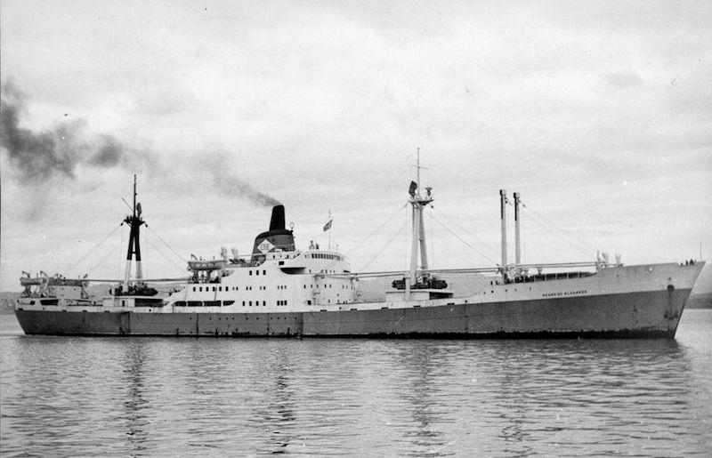 """El buque """"Pedro de Alvarado"""", en su última etapa"""