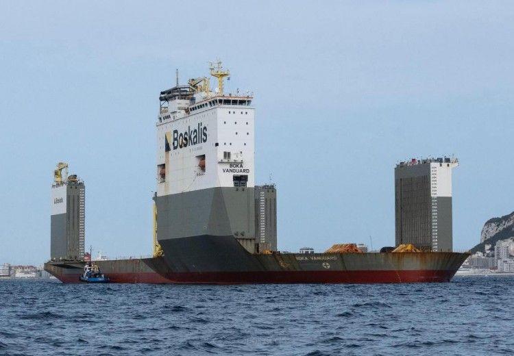 """Este es el impresionante aspecto del buque dique """"Boka Vanguard"""""""