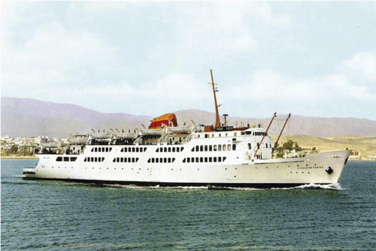 """Estampa marinera del buque """"Ciudad de Tarifa"""""""