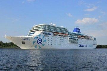 """Estampa marinera del buque """"Celestial Experience"""", ex """"Costa neoRomántica"""""""