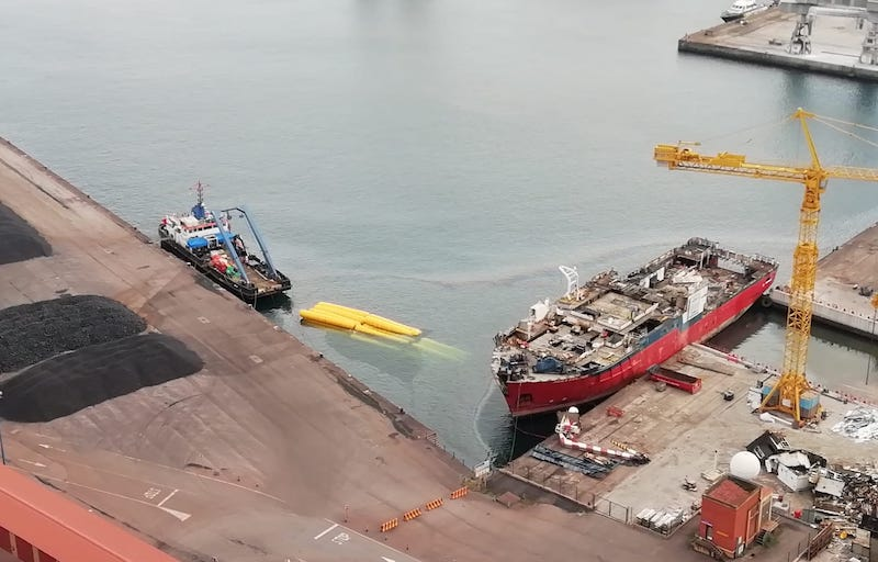 "La proa del buque ""Aquila Explorer"" acabará en Corea"
