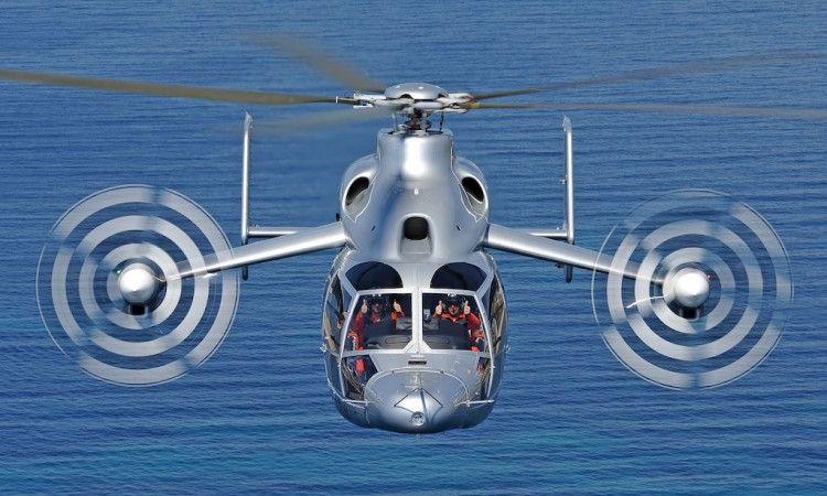 Espectacular imagen del helicóptero híbrido X3