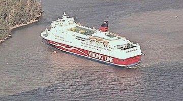 """Situación en la que se encuentra el ferry finlandés """"Amorella"""""""