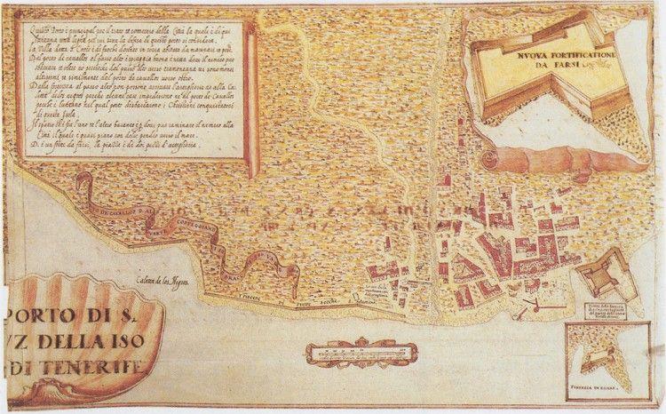 Santa Cruz de Tenerife en 1588, según el plano de Torriani