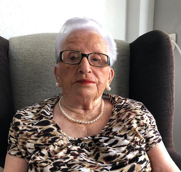 Doña Juana Cabrera Pérez, que hoy cumple 100 años