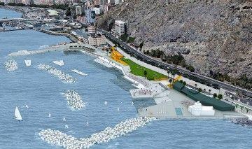 Panorámica de la actuación en el litoral de Valleseco