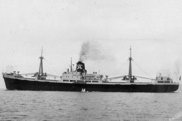 """Estampa marinera de los buques """"SAC Madrid"""" y """"SAC Barcelona"""""""