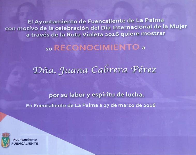Reconocimiento del pueblo de Fuencaliente de La Palma (2016)