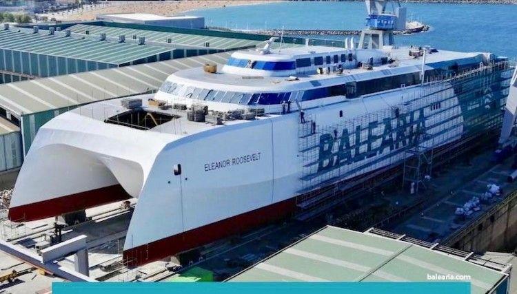Estado en el que se encuentra la construcción del nuevo HSC de Balearia