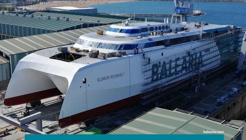 El nuevo catamarán de Balearia, a cuatro meses de su entrega | Puente de  Mando - Juan Carlos Diaz