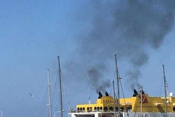 """El catamarán """"Betancuria Express"""", en el puerto de Morro Jable"""