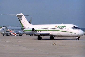 El primer prototipo del Douglas DC-9, en la etapa en que operó para Airsur