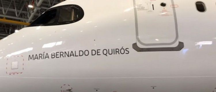 """El nuevo avión de Iberia """"María Bernaldo de Quirós"""""""