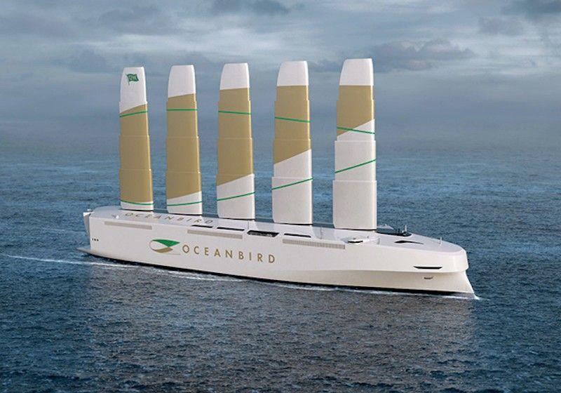 Apariencia exterior del proyecto de car carrier velero