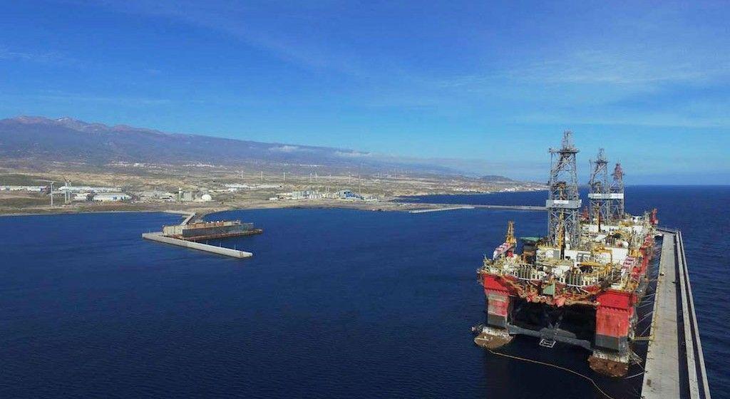 Panorámica del puerto industrial de Granadilla