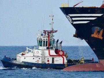 """La oportuna intervención del remolcador """"VB Adriático"""" evitó males mayores"""