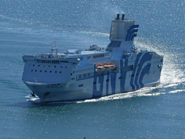 "Esta es la espantosa estética de la chimenea del ferry italiano ""Majestic"""