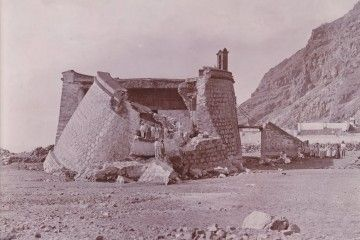 Estado del castillo de San Andrés, a comienzos del siglo XX