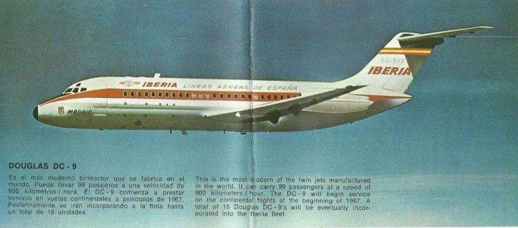 Douglas DC-9 serie -14 de Iberia, solo en publicidad