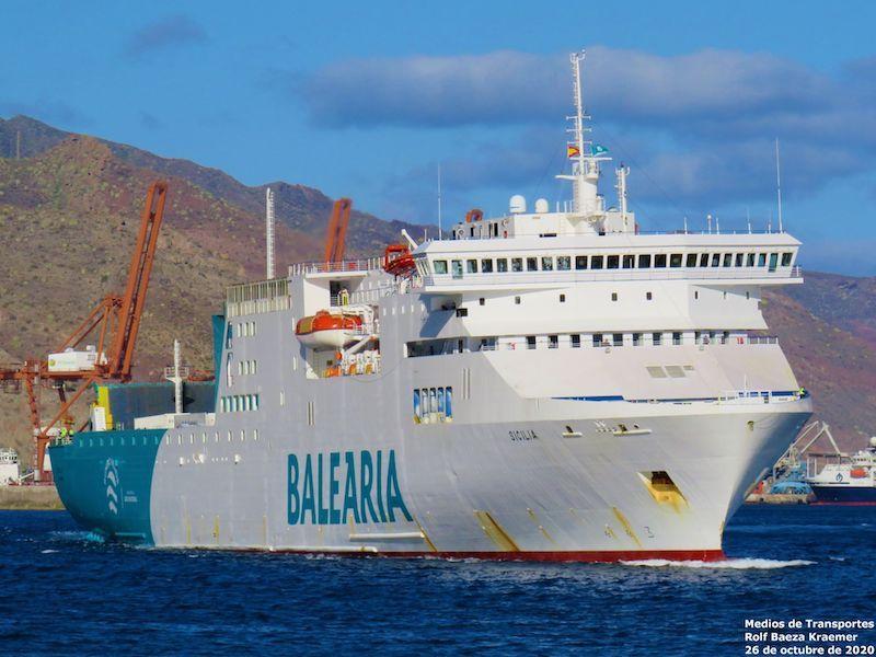 """El ferry """"Sicilia"""" releva temporalmente al ferry """"Marie Curie"""""""