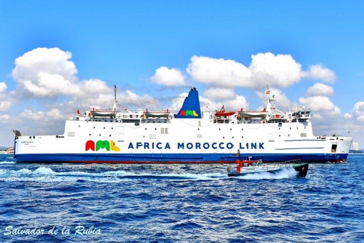 """Estampa marinera del ferry """"Morocco Sun"""""""