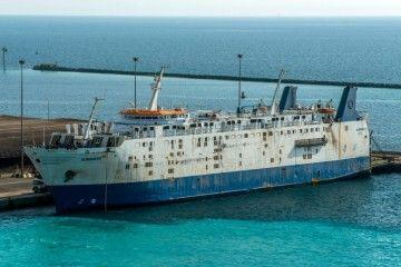 """Aspecto actual del buque """"Albaraka 5"""", ex """"Cervantes"""""""