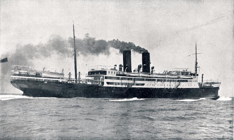 """El trasatlántico """"Juan Sebastián Elcano"""", en sus pruebas de mar"""