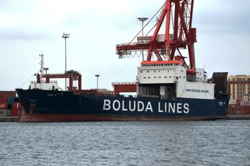 """El buque """"Vero B"""", atracado en el puerto de Las Palmas de Gran Canaria"""