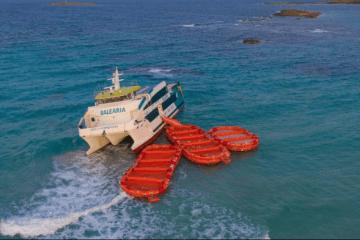 La varada del catamarán permitió una evacuación más segura