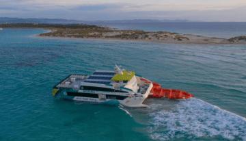 """Situación en la que se encuentra el catamarán """"Eco Lux"""""""
