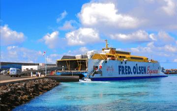 """El catamarán """"Bonanza Express"""", en el puerto de Morro Jable"""