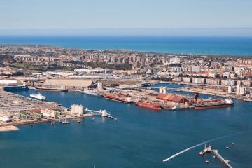 Panorámica del puerto de Santander