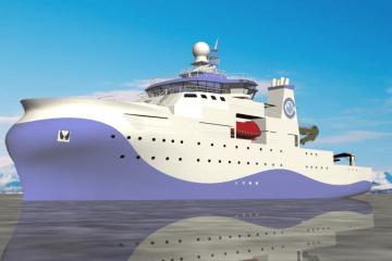 Este será el aspecto exterior del buque buque oceanográfico del IEO