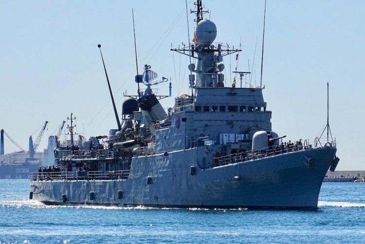 "El patrullero de altura ""Infanta Elena"", a su llegada a Cartagena"