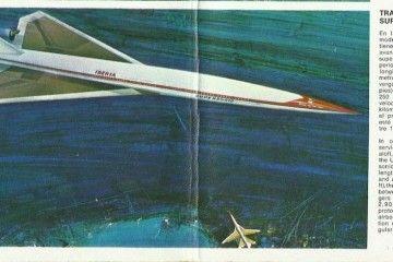 La prensa de la época divulgó el proyecto SST en el que Iberia sería uno de sus protagonistas