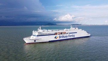 """El nuevo ferry """"Galicia"""" ha llegado hoy al puerto de Cherbourg"""