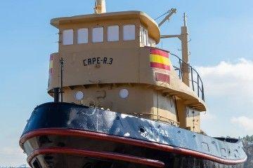 El remolcador ha sido recuperado para su exposición pública