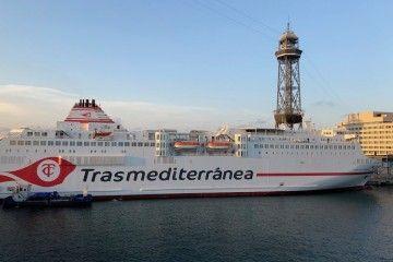 """El ferry """"Ciudad de Granada"""" ha hecho un buen papel en la línea Barcelona-Mahón"""
