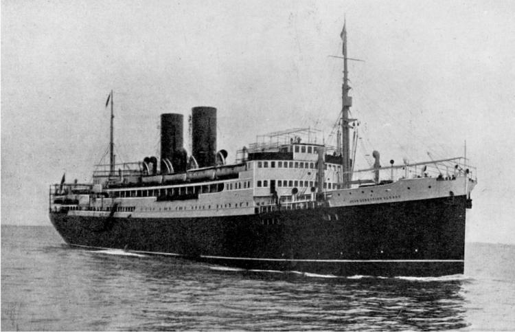 """Estampa marinera del trasatlántico """"Juan Sebastián Elcano"""""""