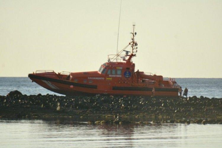 Estado en el que se encuentra la lancha Salvamar en Lanzarote