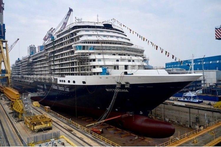 """Estado de construcción del buque """"Rotterdam"""" (octubre de 2020)"""