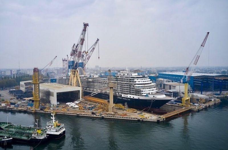 El nuevo buque de HAL se encuentra en el astillero de Marguera