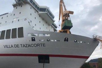"""""""Villa de Tazacorte"""" es el nuevo nombre del """"José M. Entrecanales"""""""