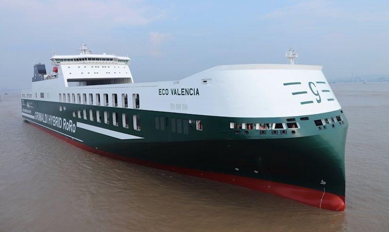 """Estampa marinera del buque """"Eco Valencia"""""""