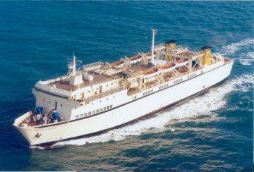 """El ferry """"Monte Contés"""", cruzando el canal de la Mancha"""