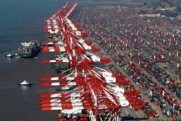 Terminal de contenedores del puerto de Shanghai